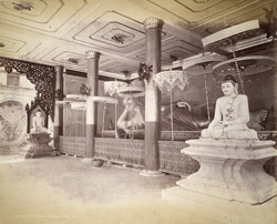 Interior of the Pagoda, Rangoon